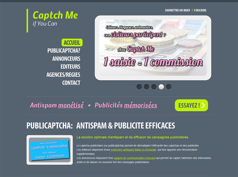 Un captcha monétisable avec la solution Captch Me
